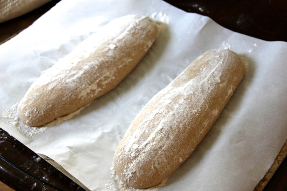 Quintessential Sourdough: batards ready to go