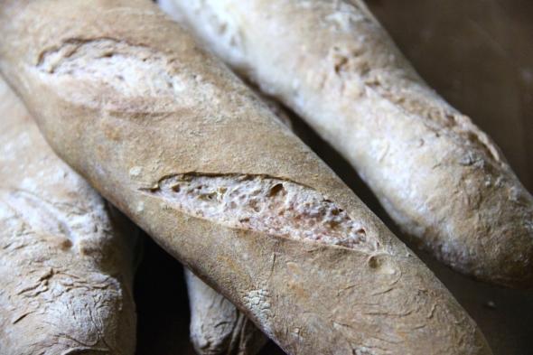 Soudough Baguettes: crust