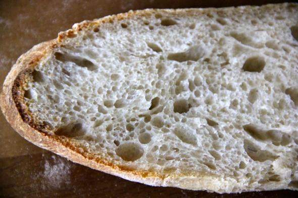 Soudough Baguettes: crumb